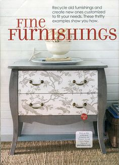 Painted dresser inspiration!! Would look great in a room with white and yellow accents and great and black furniture!!