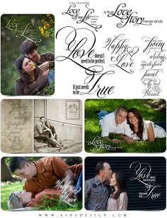 Word Art - Inspired Word Stamps for Your Photos - Scrapbooking Quotes - AsheDesign.com