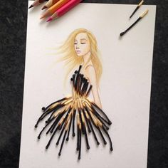 Though spaghetti makes for a tasty ingredient in the kitchen, it seems like it'd have an unlikely place in the fashion world. IllustratorEdgar Artisthinks differently.Kiwis, chocolate, bell peppers—these are all unconventional choices for evening gowns, yet the artist manages totransform them and other real-life objects into fabulous fashion illustrations. Using a combination of colored pencil drawings as well as fruits, matches, seashells, and flowers, he fuses the 2D with the 3D for a…