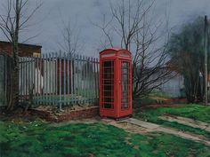 The Time Machine (2010) by British artist George Shaw (1966-), a Humbrol enamel painting on board.