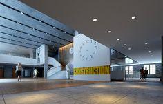 L Office, Interior Architecture, Interior Design, Lobby Design, Clock Ideas, Stairs, Museum, Exterior, Ocd