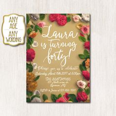 40th birthday invitations Woman birthday invitation by CoolStudio