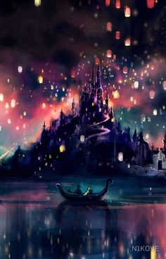 Disney Princess Rapunzel and Flynn Rider during the lantern release, from Tangled, beautiful art Disney Rapunzel, Arte Disney, Disney Magic, Tangled Rapunzel, Tangled 2010, Disney Princess, Rapunzel Quotes, Tangled Quotes, Tangled Sun