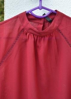 Kup mój przedmiot na #vintedpl http://www.vinted.pl/damska-odziez/koszule/12571277-koszula-bordowa-bordo-dlugi-rekaw-stradivarius-m-38-na-guziki-z-tylu