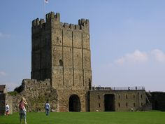 Richmond Castle, Richmond, North Yorkshire, England.
