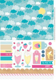 Download our free papers and make colourful milkshake cards. You can also find out how to make paper pinwheels to add to your cards and papercraft projects.