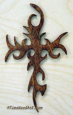 Gothic Cross, Handmade Baltic Birch Cross, Wall Hanging or Ornament, Item Scroll Saw Patterns Free, Cross Patterns, Wood Patterns, Intarsia Woodworking, Woodworking Patterns, Woodworking Crafts, Wooden Crosses, Wall Crosses, Gothic Crosses