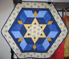 Star+of+David+Quilt+Pattern | Star of David Wall Hanging