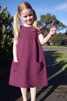 Ravelry: Cassia pattern by Georgie Hallam Simply Knitting, Knitting For Kids, Baby Knitting, Little Girl Dresses, Girls Dresses, Diy Crafts Dress, Woolen Dresses, Knitting Machine Patterns, Knit Dress