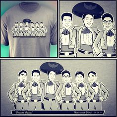The Mariachi Caricature T-Shirts Bachelor Party by GroomsPartyTs