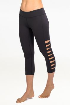 The Warrior Tough Cut Yoga Legging is a yoga bottom for the ultra-sexy, bold and daring. Ultra-sexy cut-outs from the ankle to the thigh.