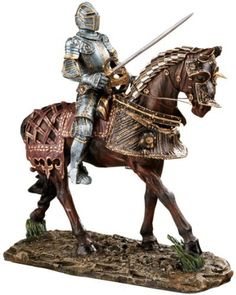 Delightful 14 Red Knight English Warrior Desktop Table Statue Sculpture Figurine Price  : $77.95 Http:/
