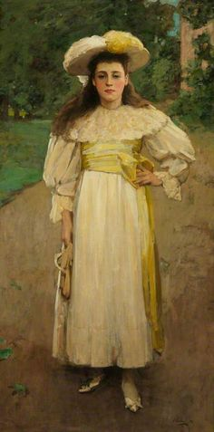 Portrait of a Girl in White, 1894 by Sir John Lavery (Irish 1856-1941) ....although Irish, Lavery spent much of his formative life and career in Scotland and was a central figure of The Glasgow Boys...