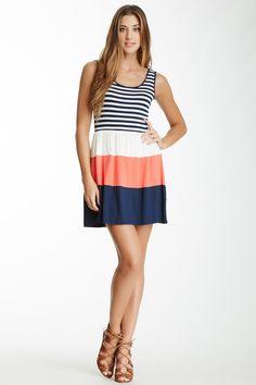 Soprano Mix Stripe Skater Dress by Soprano on @nordstrom_rack