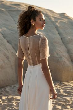 Rembo Styling, Boho Chic Wedding Dress, Gold Tulle, Wedding Dresses 2018, Dress Collection, Lace Detail, Lace Skirt, Pure Products, Hero