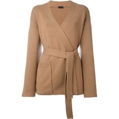 Joseph Belted Cardigan (32,125 DOP) ❤ liked on Polyvore featuring tops, cardigans, brown, camel cashmere cardigan, belted cardigan, brown cashmere cardigan, camel cardigan and cashmere tops