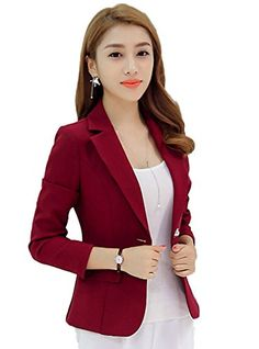 Lovely Item Women's V-neck One Button Solid Color Office ... https://www.amazon.com/dp/B01NAGTZ83/ref=cm_sw_r_pi_dp_x_pUrsybMBN9RP9