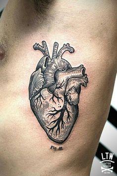 tattoo + lines herz tattoo, anatomie tattoo, tätowier Body Art Tattoos, New Tattoos, Tattoos For Guys, Cool Tattoos, Strong Tattoos, Tattoos Skull, Tatoos, Dr Tattoo, Home Tattoo