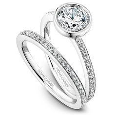 I LOVE! Noam Carver - Bridal Mount - B095-02A #NOAMCARVER #BRIDALSET