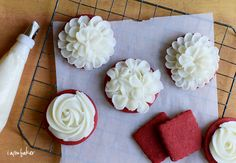 Another Stunning sugar product from I am baker.  Red Velvet Cookies with Cream Cheese Frosting
