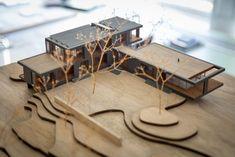 Maquette Architecture, Residential Architecture, Interior Architecture, Architecture Models, Minimalist Architecture, Interior Design, Site Model, Model Tree, Archi Design