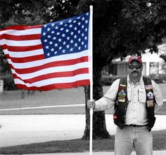 Patriot Guard Riders  Photo by: Dee James  Photo of: Dutch Macomber