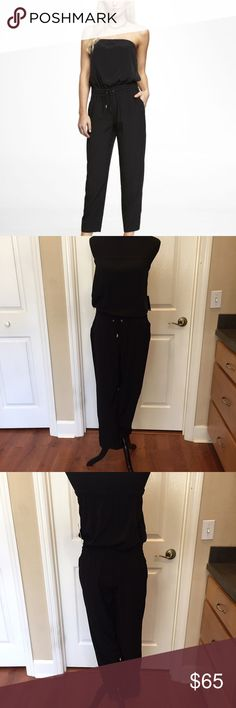 NWT - Express Black Sleeveless Jumper NWT - Express Black Sleeveless Jumper. Size small. Pockets on the sides and in the back. Ties at the waist. No trades. Smoke free home. PM only for your protection and mine😊 Express Pants Jumpsuits & Rompers