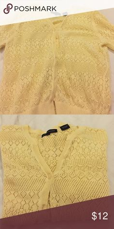 🌻Pretty yellow cardigan NEW LISTING Rarely worn cute yellow crocheted style cardigan Sweaters Cardigans