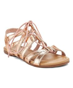 Rose Gold Lace-Up Sandal