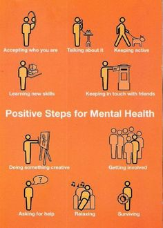 Check out these positive steps for mental health.