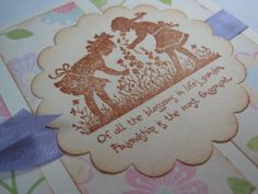 Handmade Greeting Card  Friendships Garden by wkburden on Etsy, $1.99