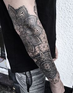 Popular Tattoos and Their Meanings Mandala Tattoo Mann, Forearm Mandala Tattoo, Mandala Tattoo Sleeve, Geometric Sleeve Tattoo, Leg Sleeve Tattoo, Mandala Tattoo Design, Best Sleeve Tattoos, Tattoo Sleeve Designs, Forearm Tattoo Men