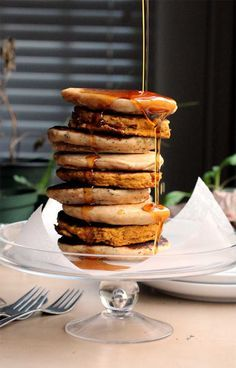 Vegan Pancakes, two ways :-)