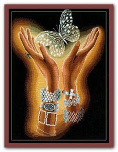 "Вышивалка 刺繍: Схема вышивки ""Сделай своими руками"" Х-04 ""Хрустальная бабочка"""