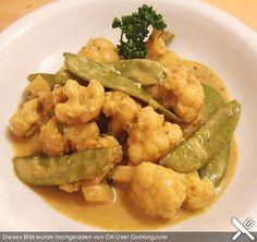 Zuckererbsen - Blumenkohl - Curry