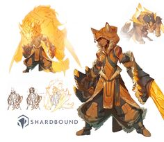 Continuing the party! Here's Juro- feral child hero of the Yellow Faction in Shardbound Kickstart with us: https://www.kickstarter.com/projects/shardbound/shardbound He's a rascal- more in tune with his pack of wolflike Primals than with his human compatriots. He has the ability to transform into a powerful creature at will, and imbues his attacks with the magic that stems from the deep link he shares with his pack. Finding his design was a balancing act of ...