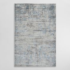 Featuring a Persian-style design in a breezy color palette, our vintage-inspired area rug boasts a silky texture and unique patina. Antimicrobial, stain-resistant and easy to care for, it's a great choice for both high and low-traffic areas.
