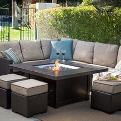 Conversation Set With Fire Pit Patio Sets At ...