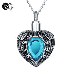 Find More Pendants Information about UNY hot sale stainless steel Heart shape with feather Cremation Jewelry Urn Necklace pet Memorial Pendant keepsake free shipping,High Quality steel bean,China shape events Suppliers, Cheap steel impeller from uny jewelry on Aliexpress.com