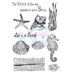 Sweet Dixie Clear Stamp Sea Creatures