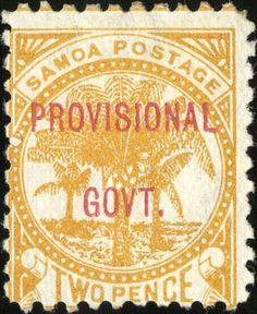 Samoa Provisional Government (1899-1900)  [MiNr 29, Sc 33] 2d Orange