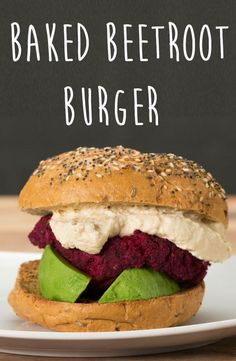 Baked Beetroot Burger@jojodesigner I know how you love beets!