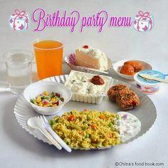 Kids birthday party menu ideas-indian vegetarian recipes