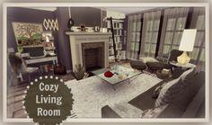 Cozy Living Room at Dinha Gamer via Sims 4 Updates