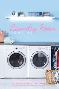 The lighting for laundry rooms is often overlooked, and the result is usually a musty and secluded space 👎🏻.  When you have a beautifully decorated laundry room, that space quickly becomes an area you don't mind being in. The solution? Rechargeable LED bars ⚡.  Add some LED light to help set the mood in your laundry room. Go to eshinestore.com to shop now! 🔥 Laundry Room Lighting, Led Light Kits, Accent Lighting, Laundry Rooms, Shop Now, House Design, Mood, Space, Floor Space