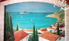 Greek Island Mural