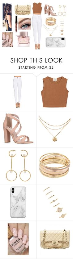 A fashion look from March 2018 featuring crop tops, high-waisted jeans and strappy sandals. Browse and shop related looks. Miss Kg, Tiana, Burberry, Forever 21, Chanel, Shoe Bag, Polyvore, Stuff To Buy, Accessories