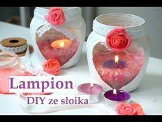 Lampion ze słoika DIY z pachnącą solą prezent na dzień babci lub dla mamy - YouTube