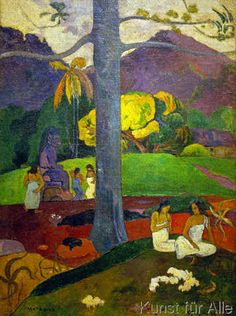 Mata Mua (In Olden Times), Paul Gauguin, @ Museo Thyssen - Bornemisza Paul Gauguin, Henri Matisse, Gauguin Tahiti, Van Gogh Pinturas, List Of Paintings, Impressionist Artists, Arte Popular, Art Moderne, Art Graphique