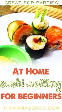 Roll your own sushi at home - so easy even I can do it! Photo Tutorial (cooking with kids sushi) Sushi Recipes, Seafood Recipes, Cooking Recipes, Sushi Comida, Sushi Party, Sushi Sushi, Onigirazu, Planning Menu, Fast Recipes